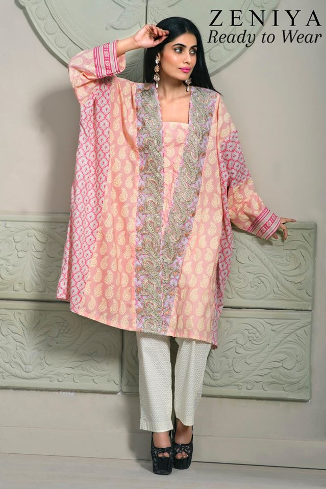 Zeniya Lawn By Deepak Perwani Latest Spring Summer Collection Ready To Wear Dresses 2015 (4)