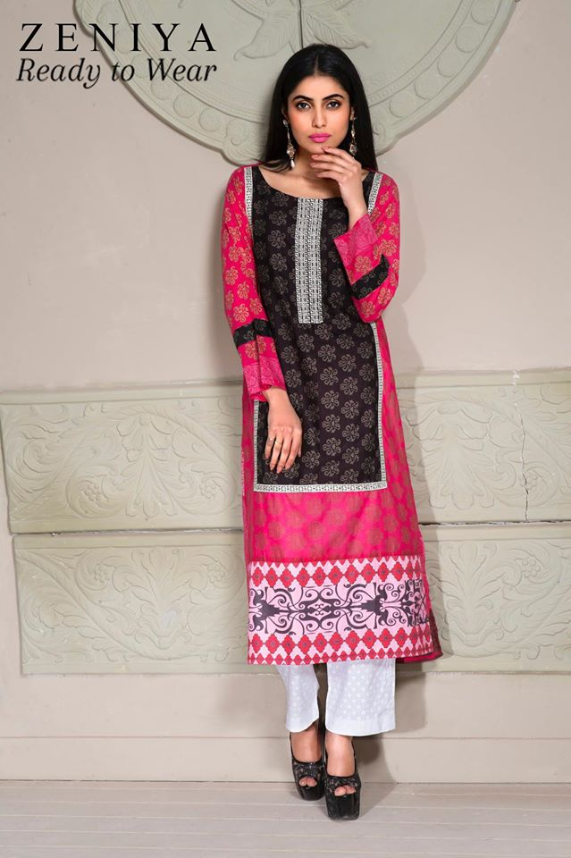 Zeniya Lawn By Deepak Perwani Latest Spring Summer Collection Ready To Wear Dresses 2015 (7)