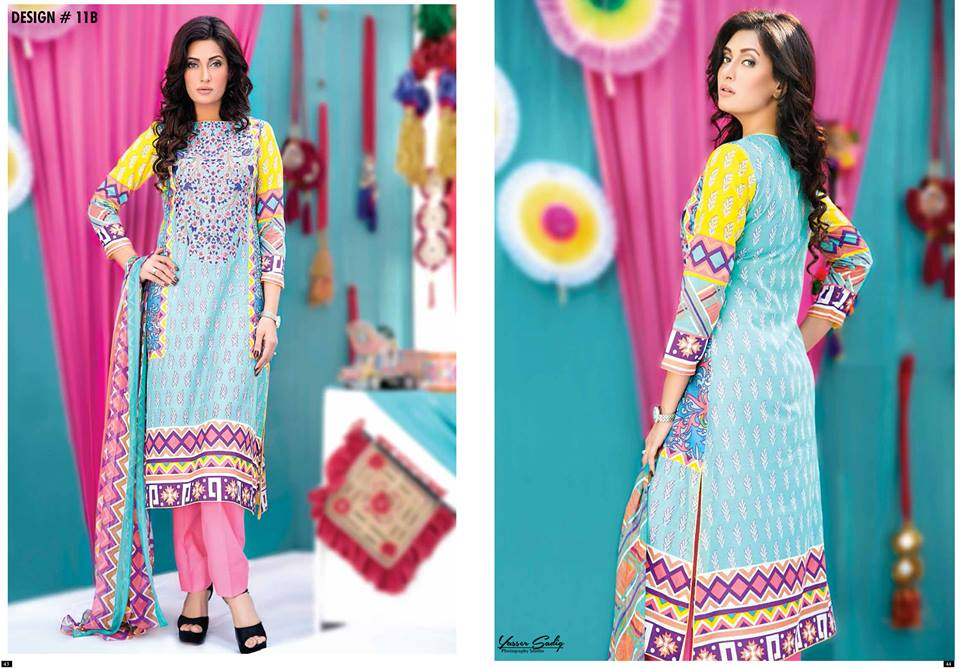 Amna Ismail Embroidered Lawn Summer Fancy Dresses Collection 2015-2016 (10)
