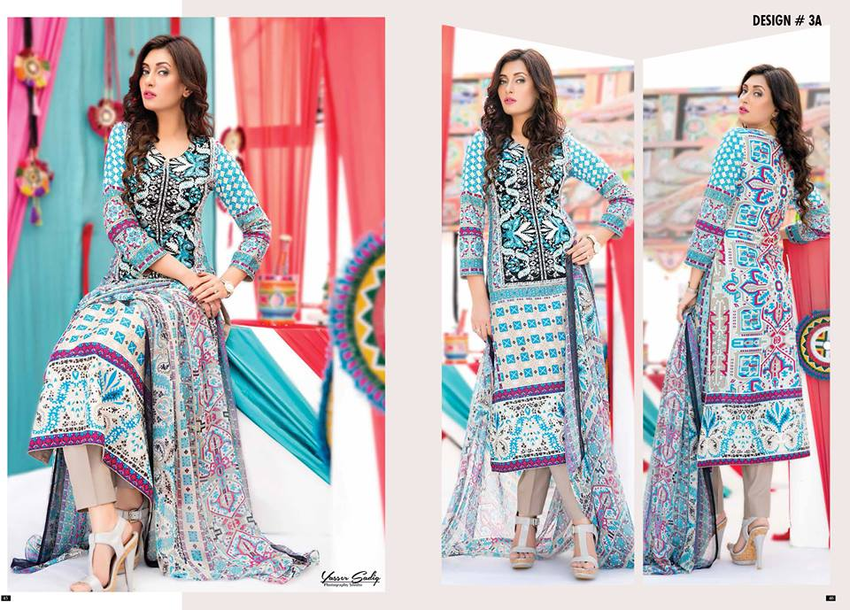 Amna Ismail Embroidered Lawn Summer Fancy Dresses Collection 2015-2016 (11)