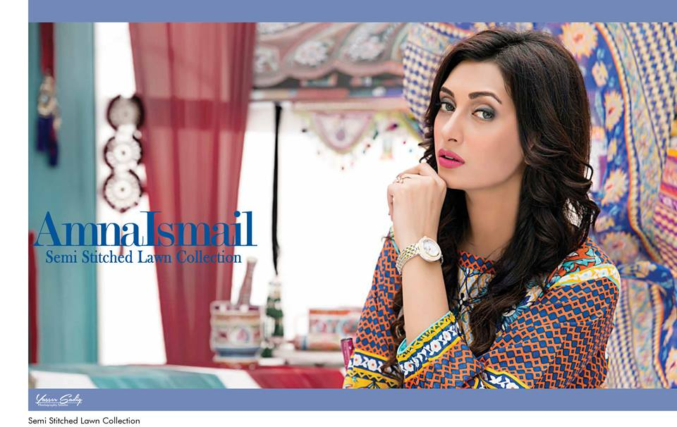 Amna Ismail Embroidered Lawn Summer Fancy Dresses Collection 2015-2016 (12)