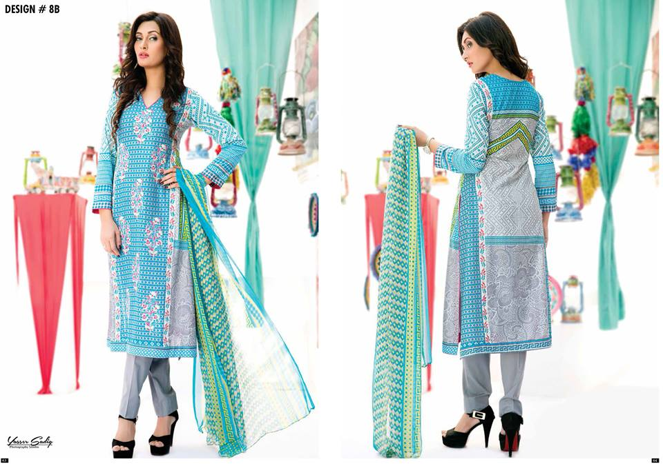 Amna Ismail Embroidered Lawn Summer Fancy Dresses Collection 2015-2016 (14)