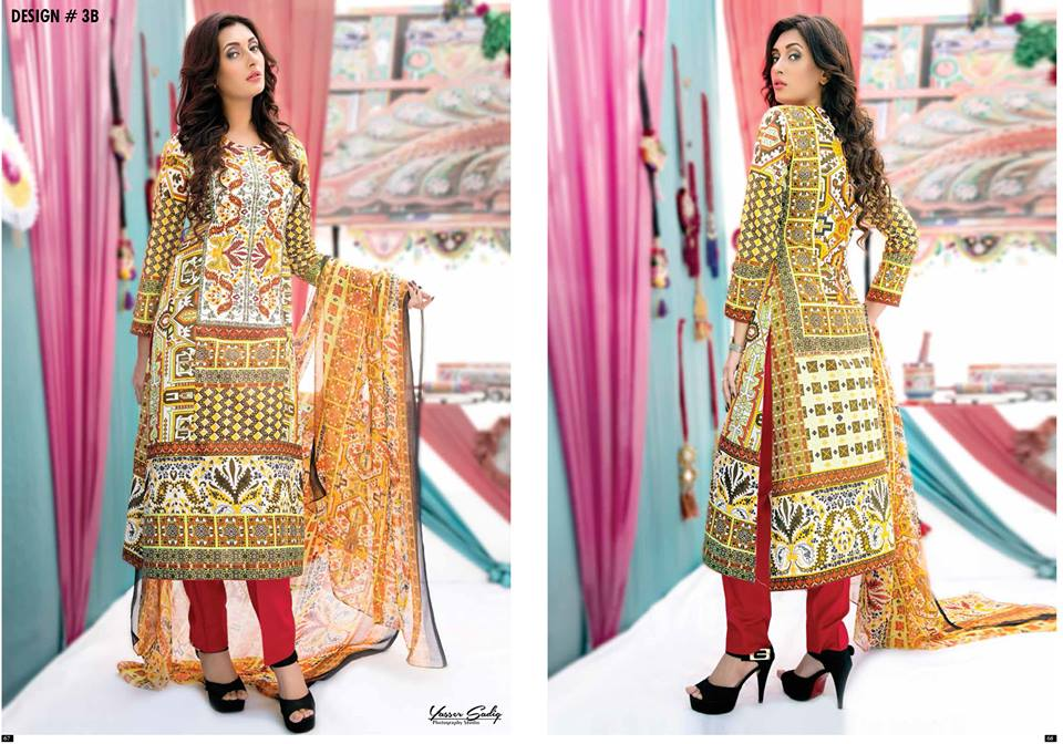 Amna Ismail Embroidered Lawn Summer Fancy Dresses Collection 2015-2016 (15)