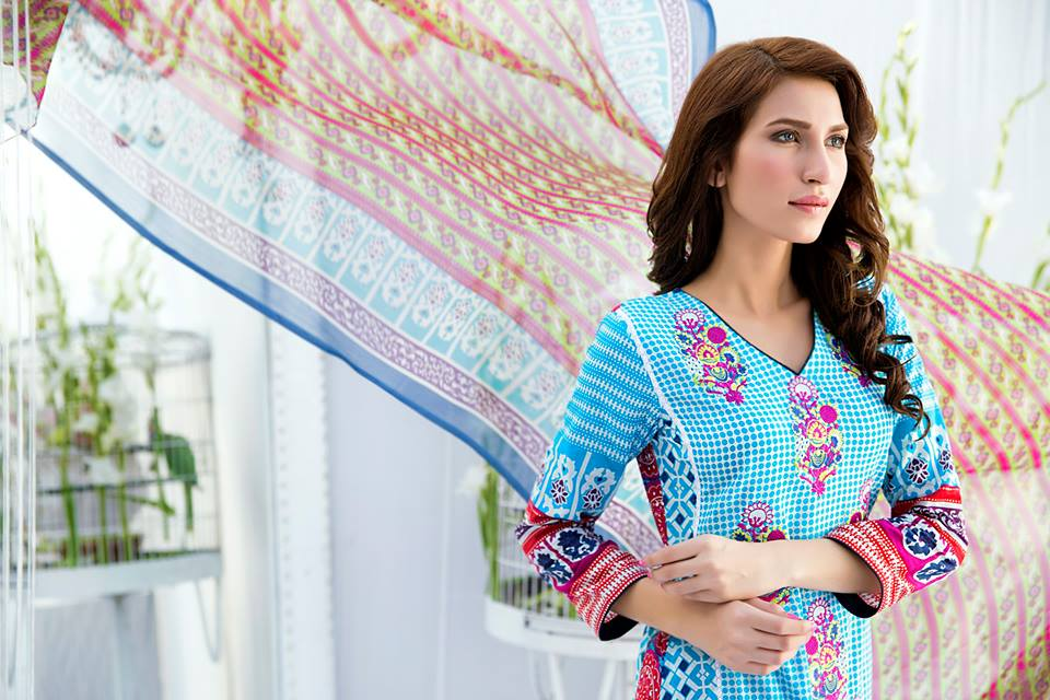 Amna Ismail Embroidered Lawn Summer Fancy Dresses Collection 2015-2016 (2)