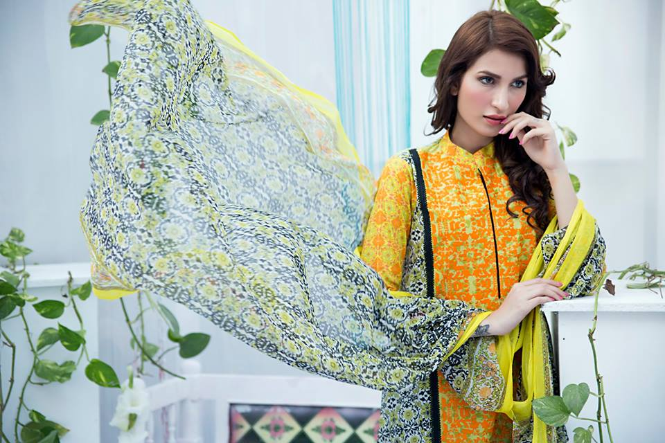 Amna Ismail Embroidered Lawn Summer Fancy Dresses Collection 2015-2016 (3)