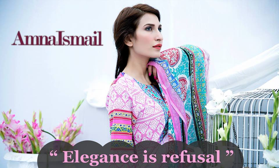 Amna Ismail Embroidered Lawn Summer Fancy Dresses Collection 2015-2016 (4)