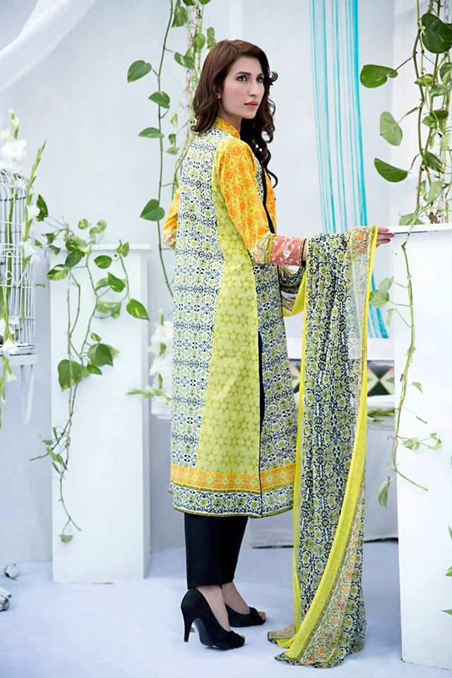 Amna Ismail Embroidered Lawn Summer Fancy Dresses Collection 2015-2016 (5)