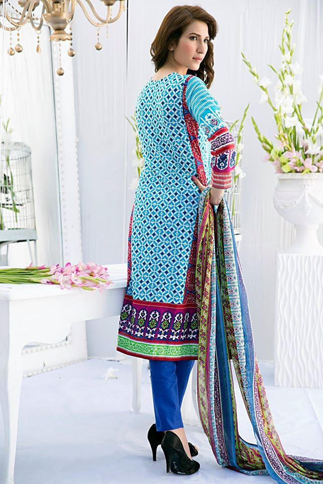 Amna Ismail Embroidered Lawn Summer Fancy Dresses Collection 2015-2016 (6)