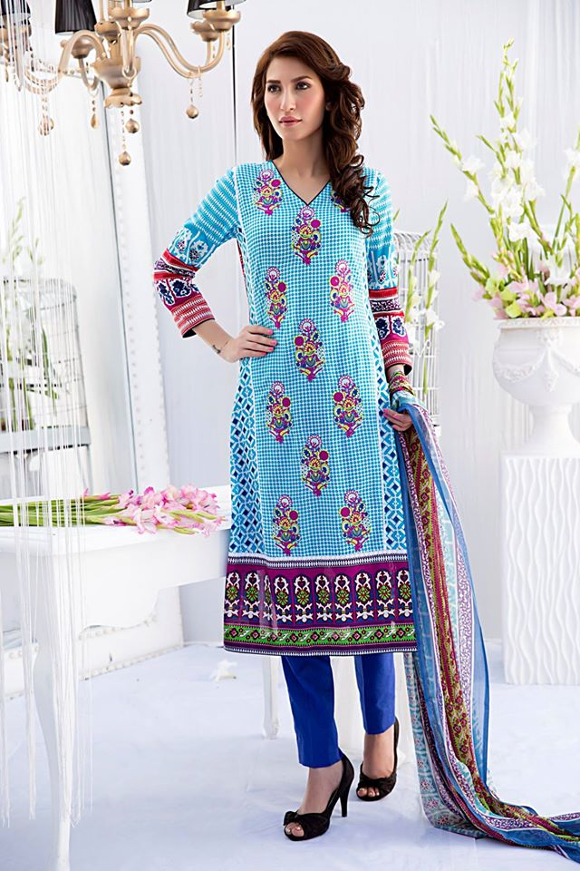 Amna Ismail Embroidered Lawn Summer Fancy Dresses Collection 2015-2016 (7)