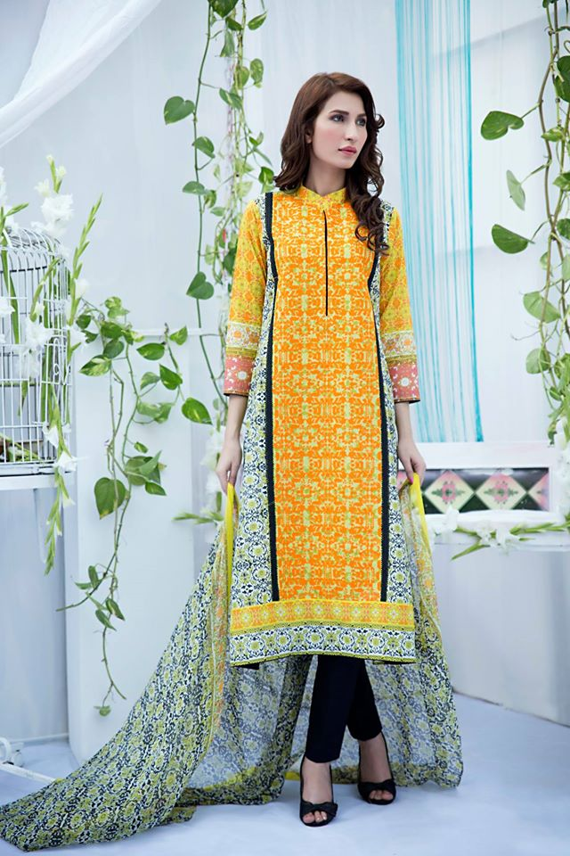 Amna Ismail Embroidered Lawn Summer Fancy Dresses Collection 2015-2016 (8)
