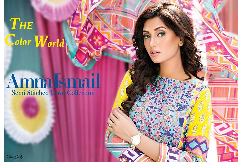 Amna Ismail Embroidered Lawn Summer Fancy Dresses Collection 2019