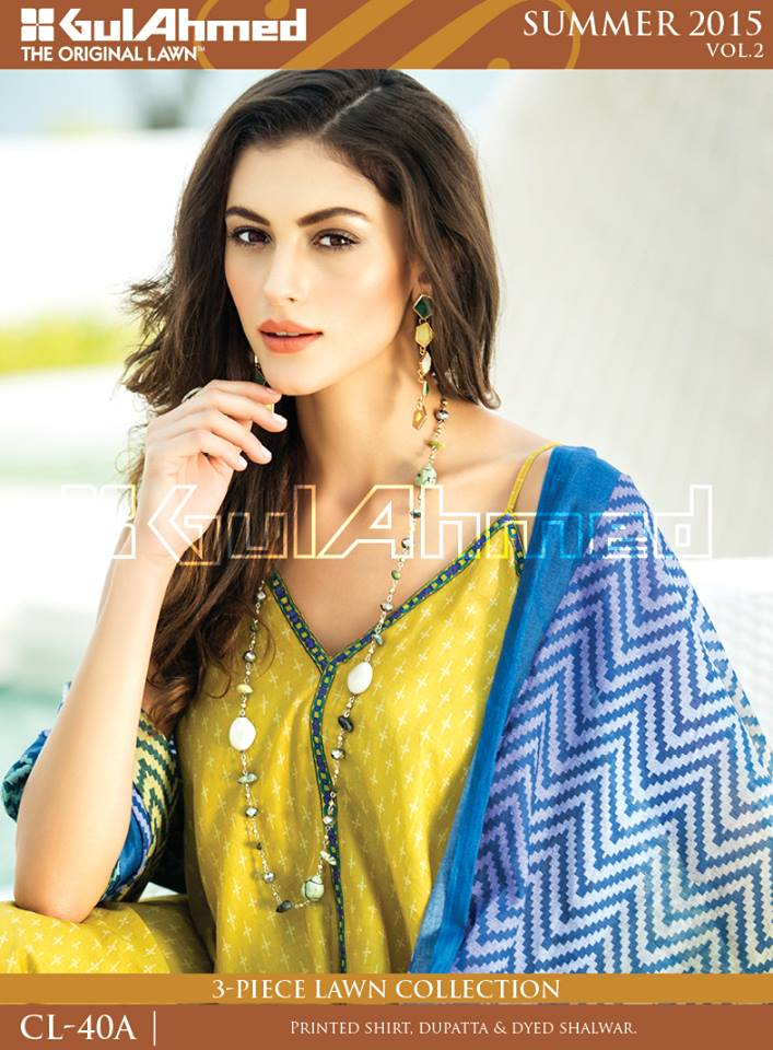 Gul Ahmed The Original Lawn Summer Lawn Chiffon Dresses Collection 2015-2016 (15)