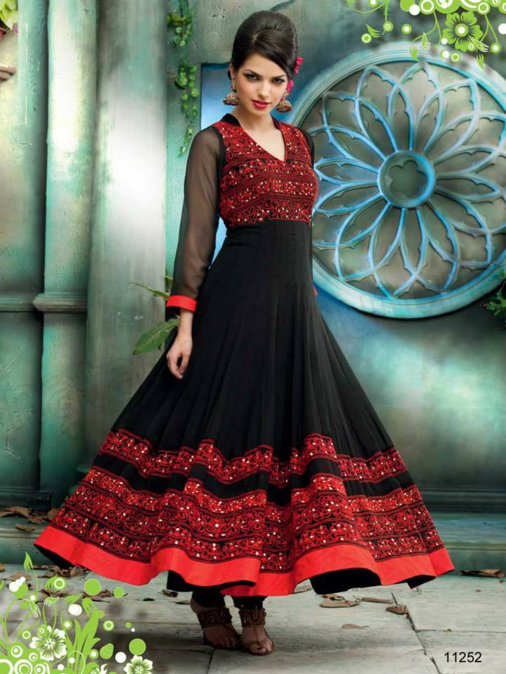 Latest Design Of Assam Type House: Indian Designer Anarkali Suits 2019 New Collection By
