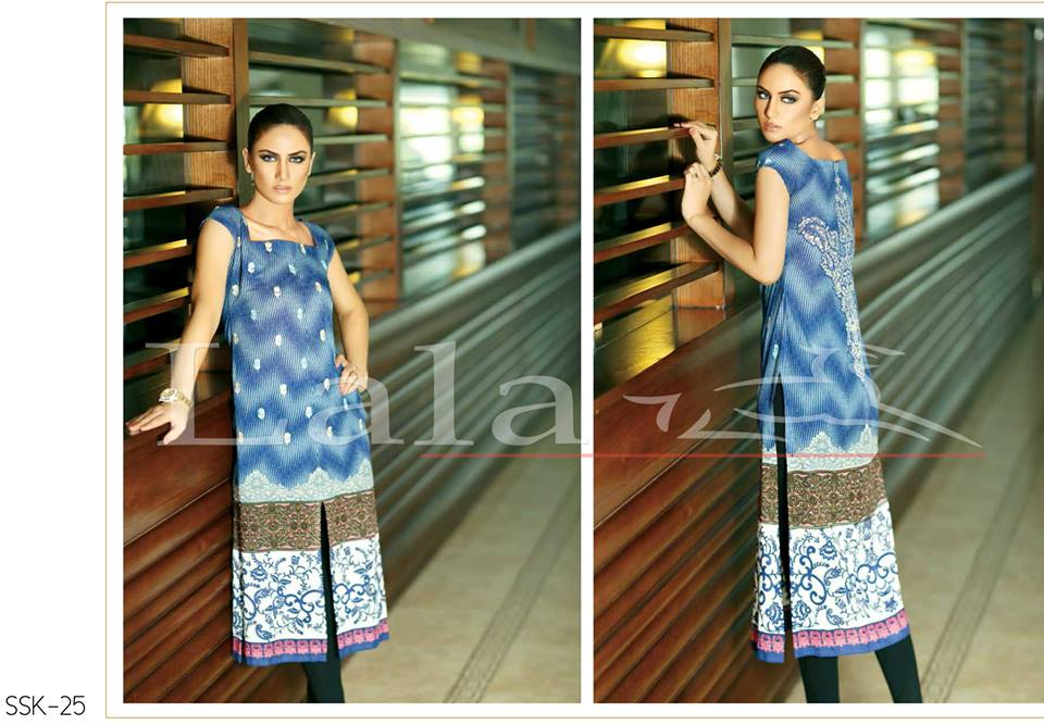 Lala Textiles Embroidered lawn Dresses Kurtis Summer Spring collection 2015-2016 (14)