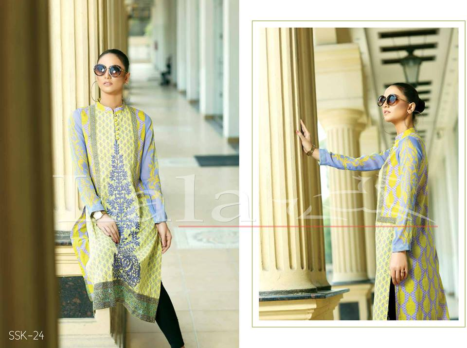 Lala Textiles Embroidered lawn Dresses Kurtis Summer Spring collection 2015-2016 (15)