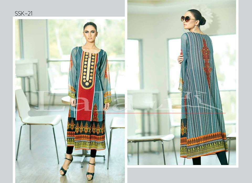 Lala Textiles Embroidered lawn Dresses Kurtis Summer Spring collection 2015-2016 (18)