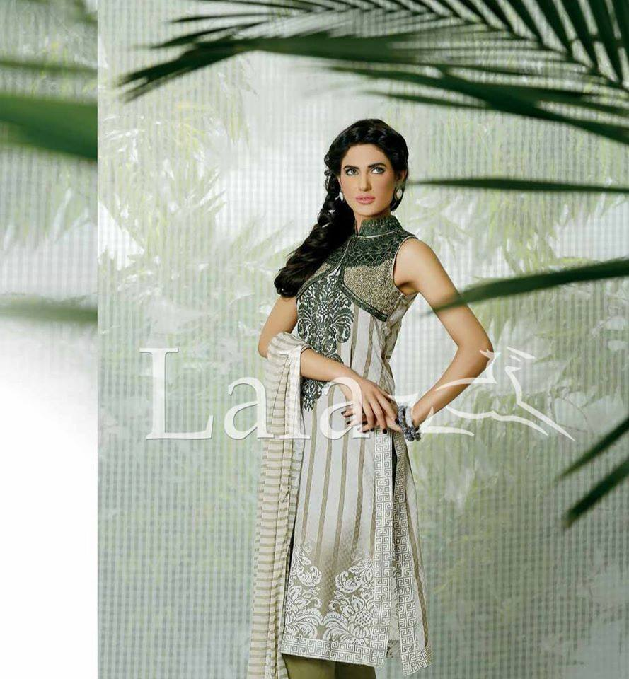 Lala Textiles Embroidered lawn Dresses Kurtis Summer Spring collection 2015-2016 (2)