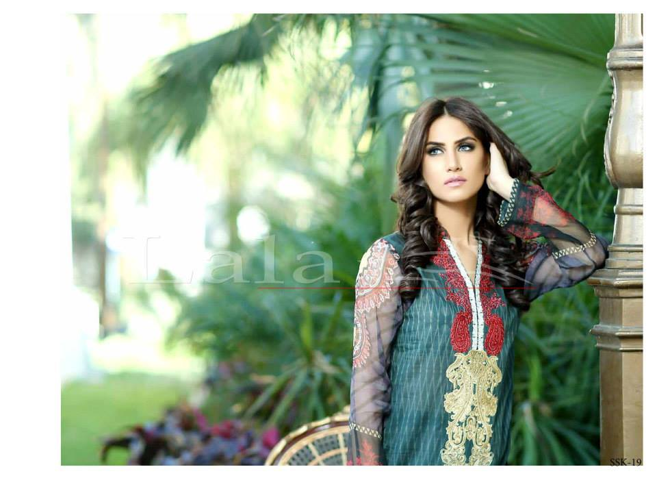 Lala Textiles Embroidered lawn Dresses Kurtis Summer Spring collection 2015-2016 (20)
