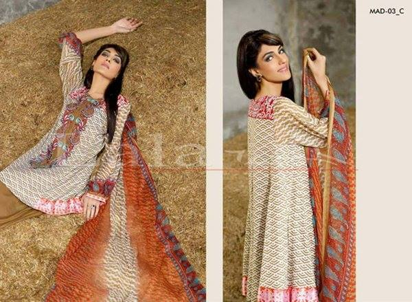 Lala Textiles Embroidered lawn Dresses Kurtis Summer Spring collection 2015-2016 (22)