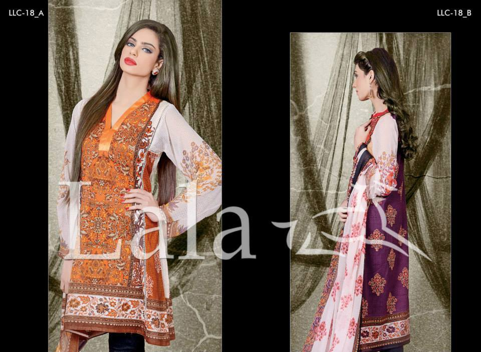 Lala Textiles Embroidered lawn Dresses Kurtis Summer Spring collection 2015-2016 (23)