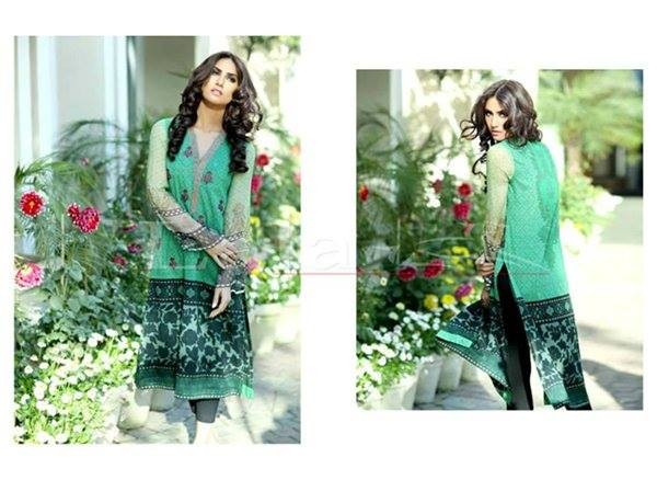 Lala Textiles Embroidered lawn Dresses Kurtis Summer Spring collection 2015-2016 (24)