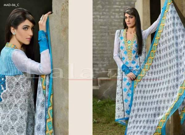 Lala Textiles Embroidered lawn Dresses Kurtis Summer Spring collection 2015-2016 (25)