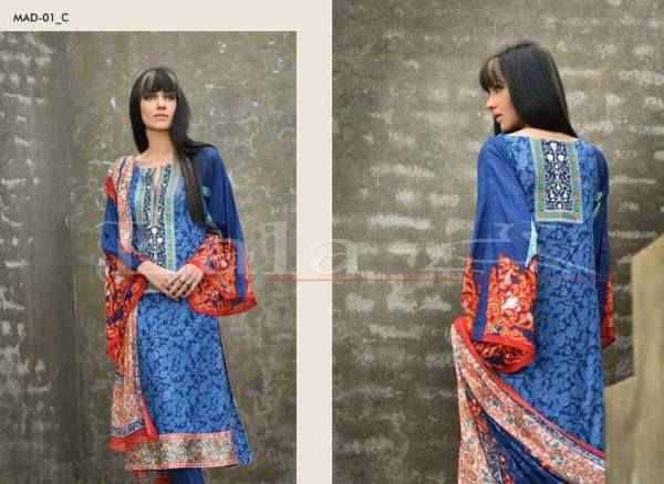 Lala Textiles Embroidered lawn Dresses Kurtis Summer Spring collection 2015-2016 (27)