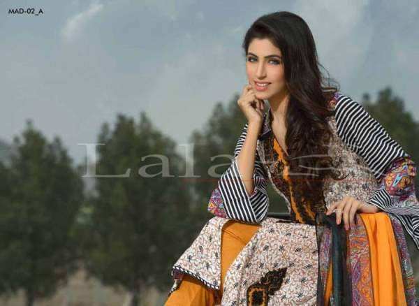 Lala Textiles Embroidered lawn Dresses Kurtis Summer Spring collection 2015-2016 (28)