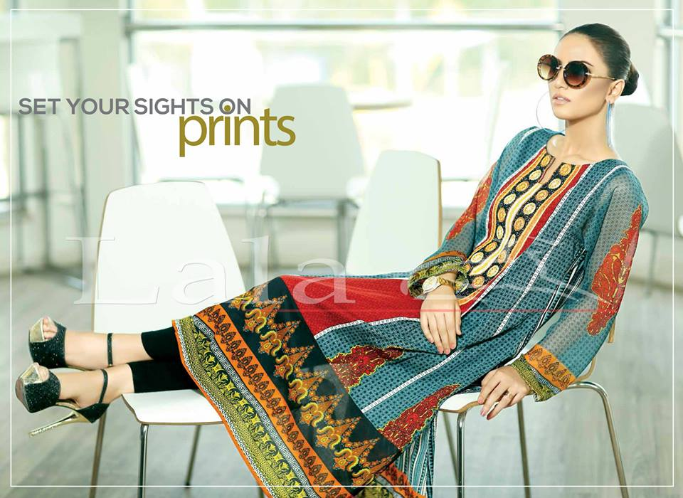 Lala Textiles Embroidered lawn Dresses Kurtis Summer Spring collection 2015-2016 (3)