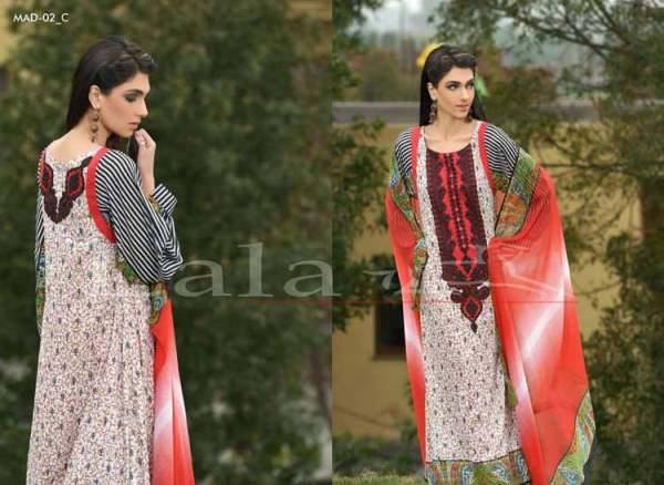 Lala Textiles Embroidered lawn Dresses Kurtis Summer Spring collection 2015-2016 (31)