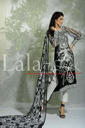 Lala Textiles Embroidered lawn Dresses Kurtis Summer Spring collection 2015-2016 (35)