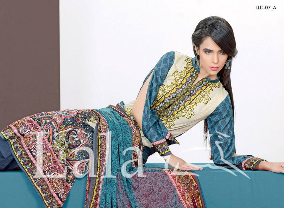 Lala Textiles Embroidered lawn Dresses Kurtis Summer Spring collection 2015-2016 (36)