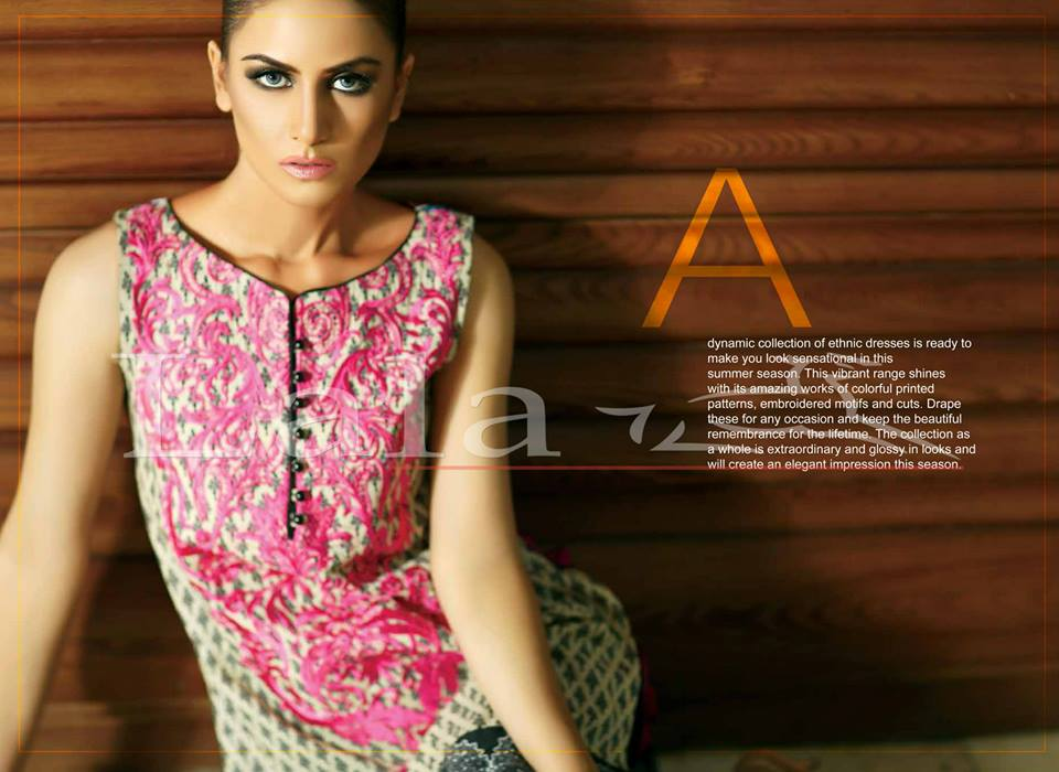 Lala Textiles Embroidered lawn Dresses Kurtis Summer Spring collection 2015-2016 (4)
