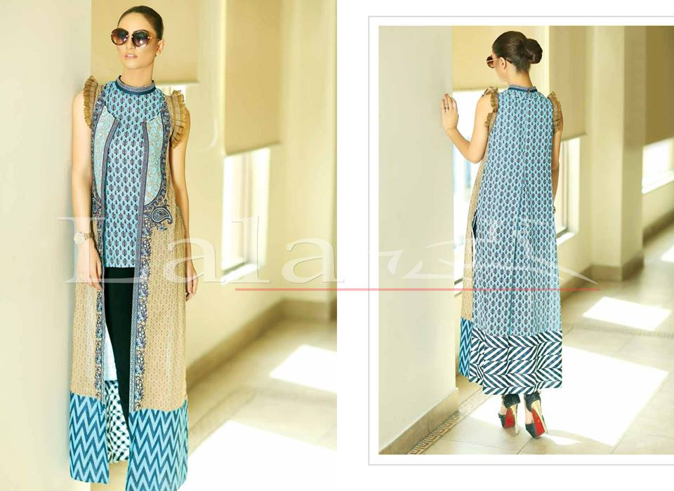 Lala Textiles Embroidered lawn Dresses Kurtis Summer Spring collection 2015-2016 (6)