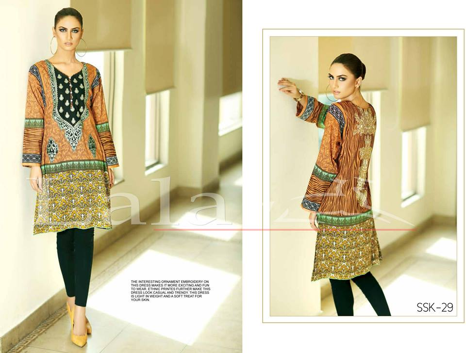 Lala Textiles Embroidered lawn Dresses Kurtis Summer Spring collection 2015-2016 (8)