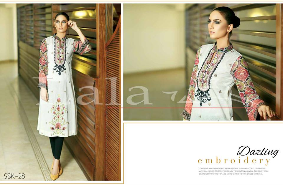 Lala Textiles Embroidered lawn Dresses Kurtis Summer Spring collection 2015-2016 (9)