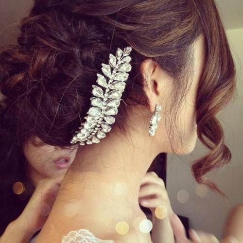 Latest Bridal Wedding Hairstyles Trends & Tutorial Hair Looks with Pictures  (24)
