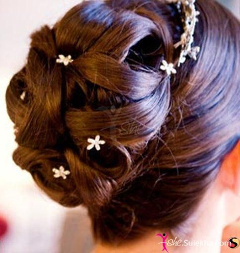 Latest Bridal Wedding Hairstyles Trends & Tutorial Hair Looks with Pictures  (6)