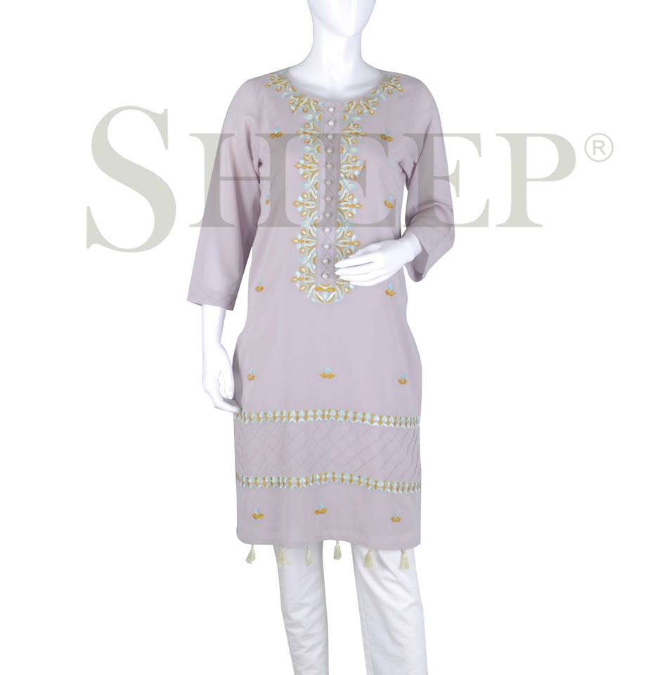 Latest Embroidered Fancy Kurtis for Women by SHEEP Formal Collection 2015-2016 (2)