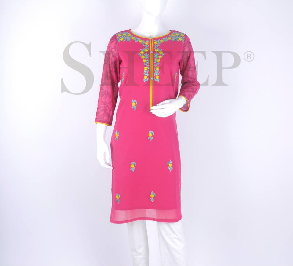 Latest Embroidered Fancy Kurtis for Women by SHEEP Formal Collection 2015-2016 (4)