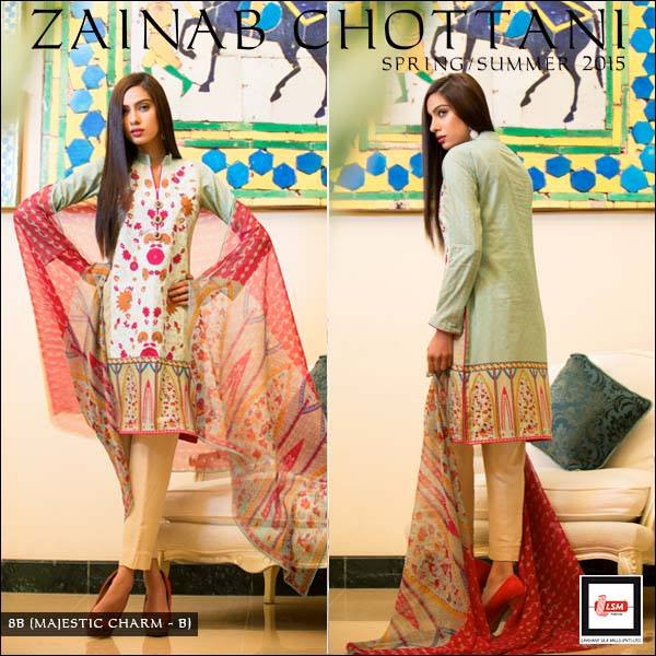 Zainab Chottani Latest Summer Spring Lawn Dresses Collection 2015 for Women (10)