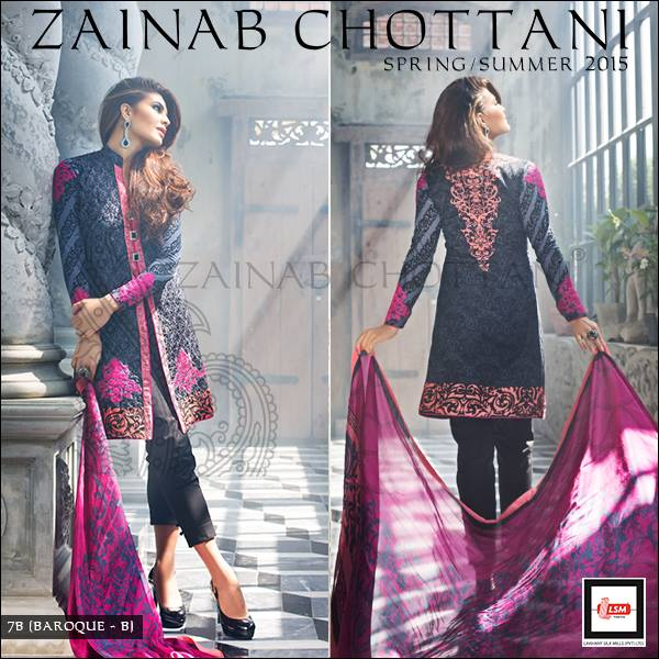 Zainab Chottani Latest Summer Spring Lawn Dresses Collection 2015 for Women (11)