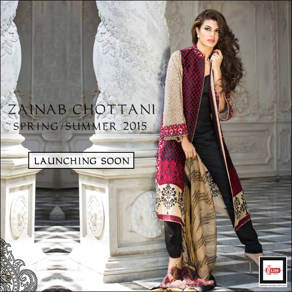 Zainab Chottani Latest Summer Spring Lawn Dresses Collection 2015 for Women (12)