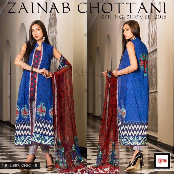Zainab Chottani Latest Summer Spring Lawn Dresses Collection 2015 for Women (13)