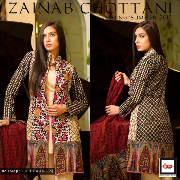 Zainab Chottani Latest Summer Spring Lawn Dresses Collection 2015 for Women (14)