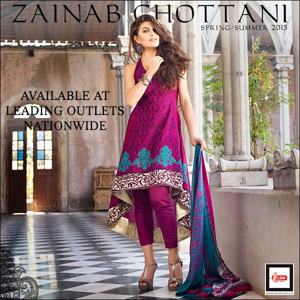 Zainab Chottani Latest Summer Spring Lawn Dresses Collection 2015 for Women (16)