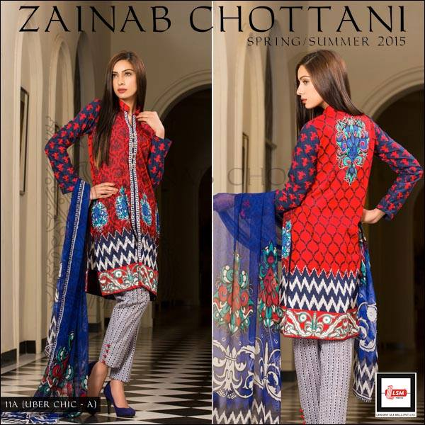 Zainab Chottani Latest Summer Spring Lawn Dresses Collection 2015 for Women (21)