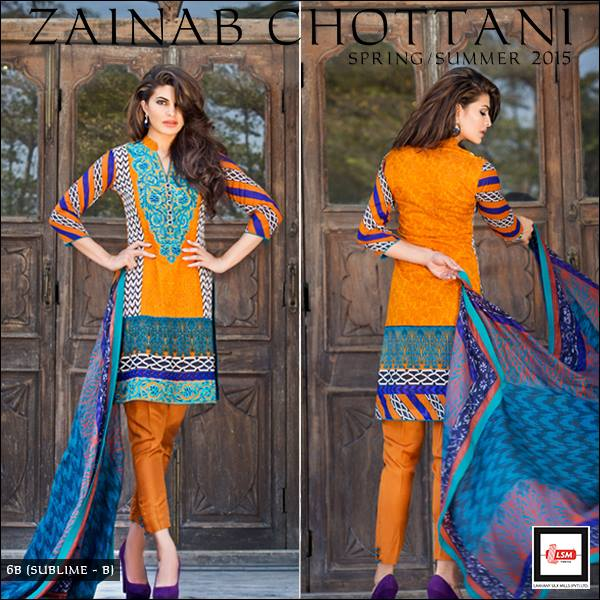Zainab Chottani Summer Lawn Dresses Collection 2019 by LSM Textile Mills