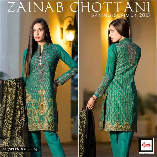 Zainab Chottani Latest Summer Spring Lawn Dresses Collection 2015 for Women (6)