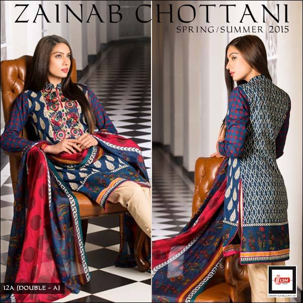 Zainab Chottani Latest Summer Spring Lawn Dresses Collection 2015 for Women (7)